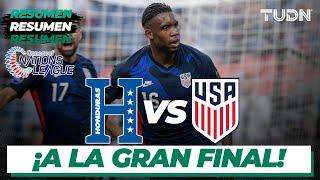 Resumen y goles   Honduras vs Estados Unidos   CONCACAF Nations League - Semifinal   TUDN