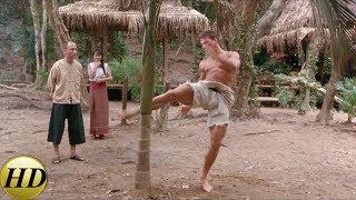 Курт Слоун ломает дерево ногой. Кикбоксер 1989.