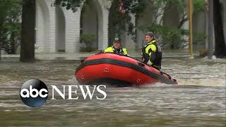 Water rescues continue in Texas as flooding devastates the area