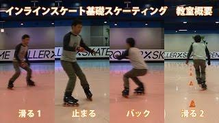 最初の一歩 - インラインスケート(ローラーブレード)練習方法 (初心者教室の内容)