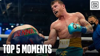 Top 5 Moments From Canelo vs. Billy Joe Saunders