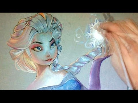 Dessin rapide elsa de frozen la reine des neiges youtube - Raiponce reine des neiges ...