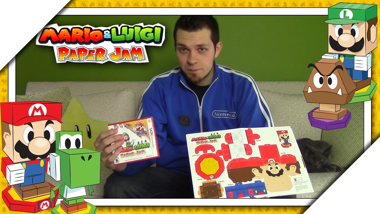 Papercraft Mario & Luigi: Paper Jam - How To Build Papercraft Mario, Luigi, Yoshi, & Goomba!