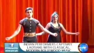 Indian performers captivate Laotians with classical modern bollywood music || Sept. 21, 2015