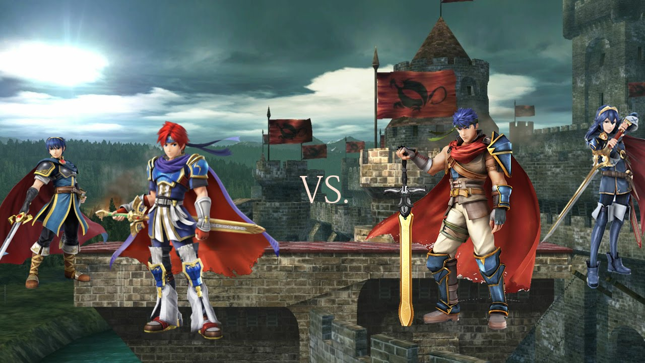 Roy & Marth VS Ike & Lucina | Super Smash Bros. Wii U ...
