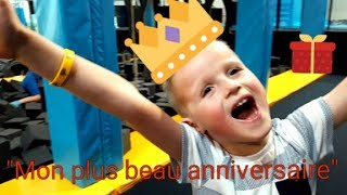 """""""MON PLUS BEAU ANNIVERSAIRE"""" au trampoline park. Cinématique + bonus l'ouverture des cadeaux."""