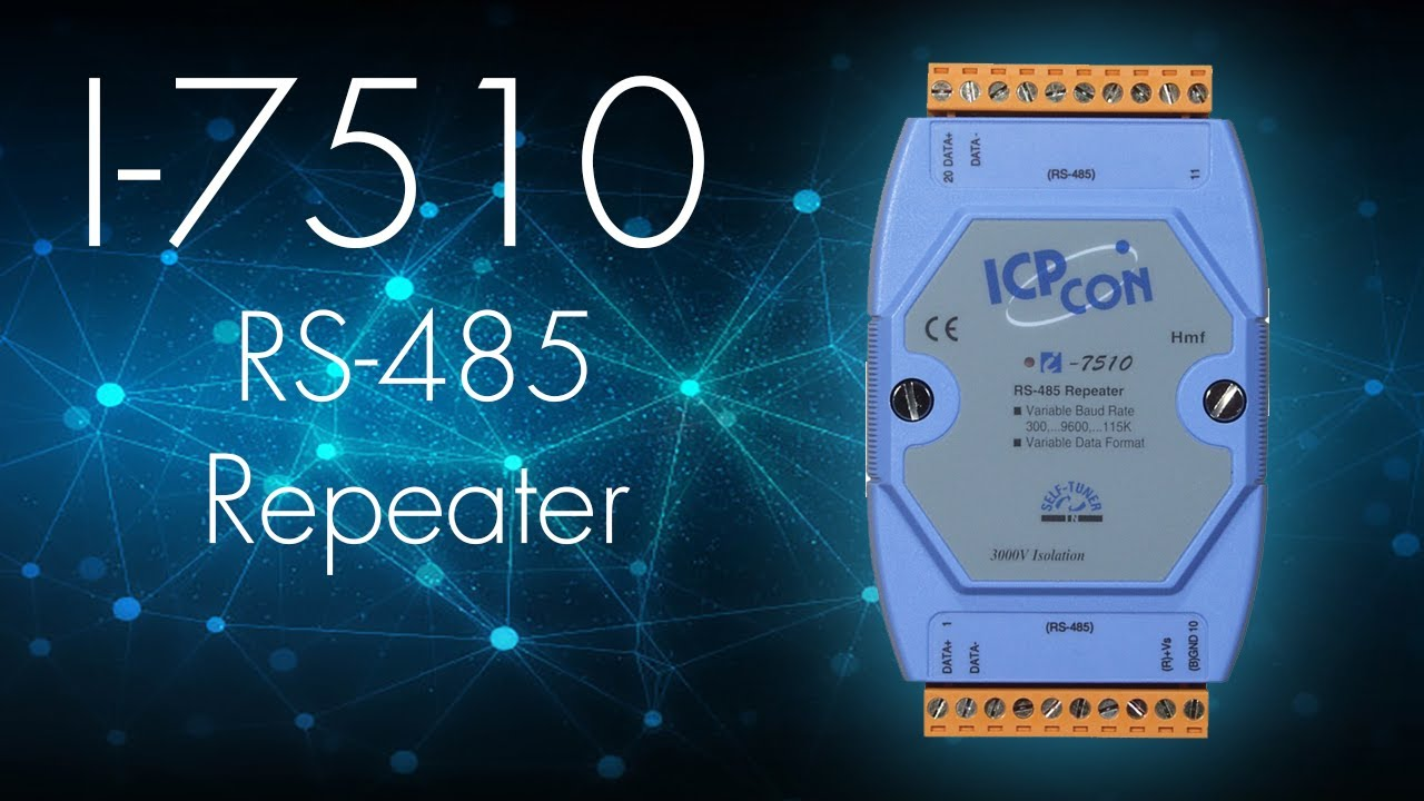 Isolated RS-485 High Speed Repeater: I-7510