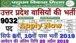 UP Pashu Mitra Vacancy 2019 Artificial inseminator | Pashudhan Vikas Mission Recruitment 2019