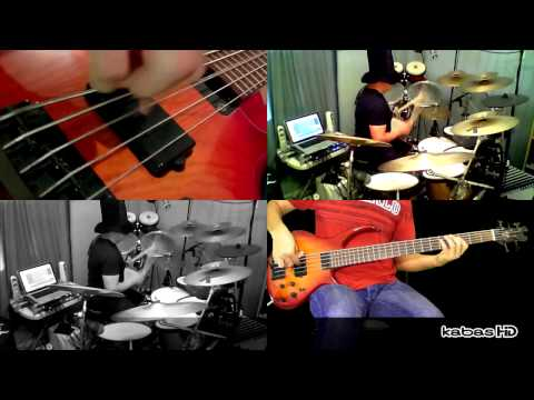 Jamiroquai - Seven Days In Sunny June (bass & drum cover - by kabas & Luis Vera)