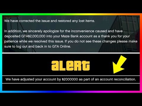 GTA Online Account Update - Rockstar Giving Out $2,000,000 Of FREE Money To Players Who Lost Items!