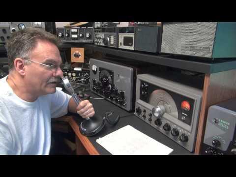 Ham Radio DX-60 Net Tube Receiver Transmitter 80 meter QSO Check-In