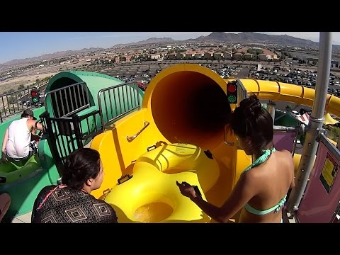 Yellow Rock-A-Hoola Slide at Cowabunga Bay Las Vegas