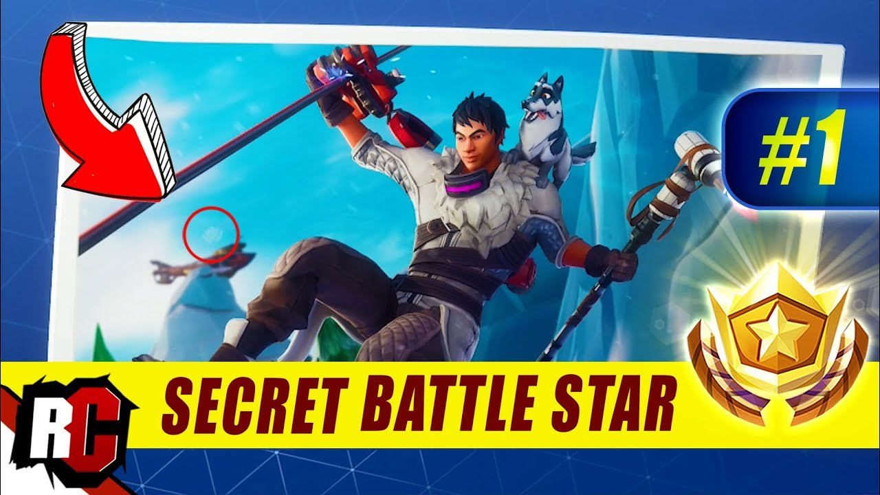 Fortnite Secret Battle Star Location Season 7 Week 1 Snowfall