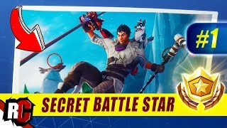 Fortnite | Secret Battle Star Location (Season 7 Week 1 - Snowfall Skin Challenges )
