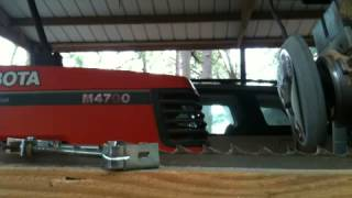 Sharpening A Sawmill Bandsaw On A Radial Arm Saw