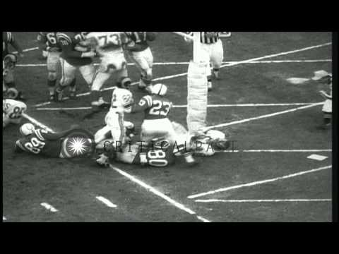 Baltimore Colts and Los Angeles Rams play a game of football at Baltimore Memoria...HD Stock Footage