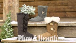 Ugg® Australia Women's Bailey Button Triplet Boots Sku#71049 - Plow & Hearth