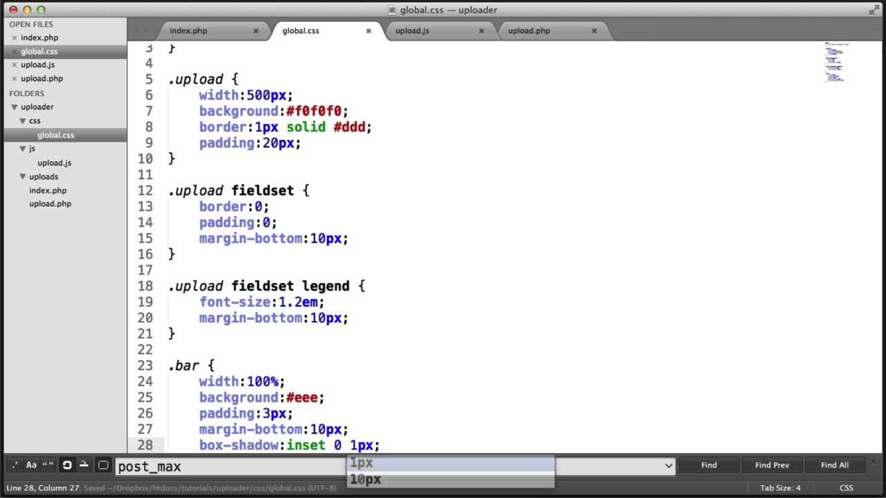 Multiple File AJAX Upload: Progress Bar (Part 5/10)