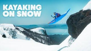 Kayak à 100km/h sur neige   Kayak Red Bull
