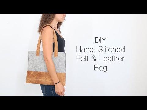 DIY Felt and Leather Bag