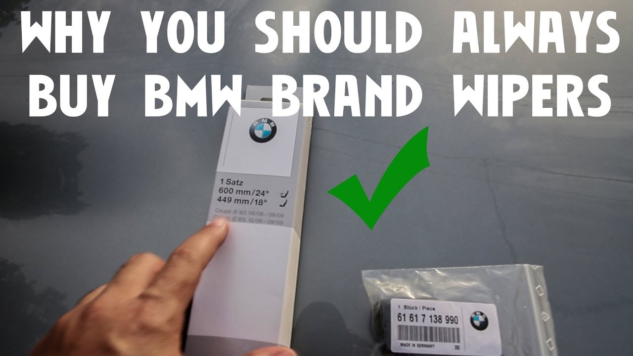 Bmw E92 M3 Diy Windshield Wiper Replacement Why You Should Buy Bmw Brand Only