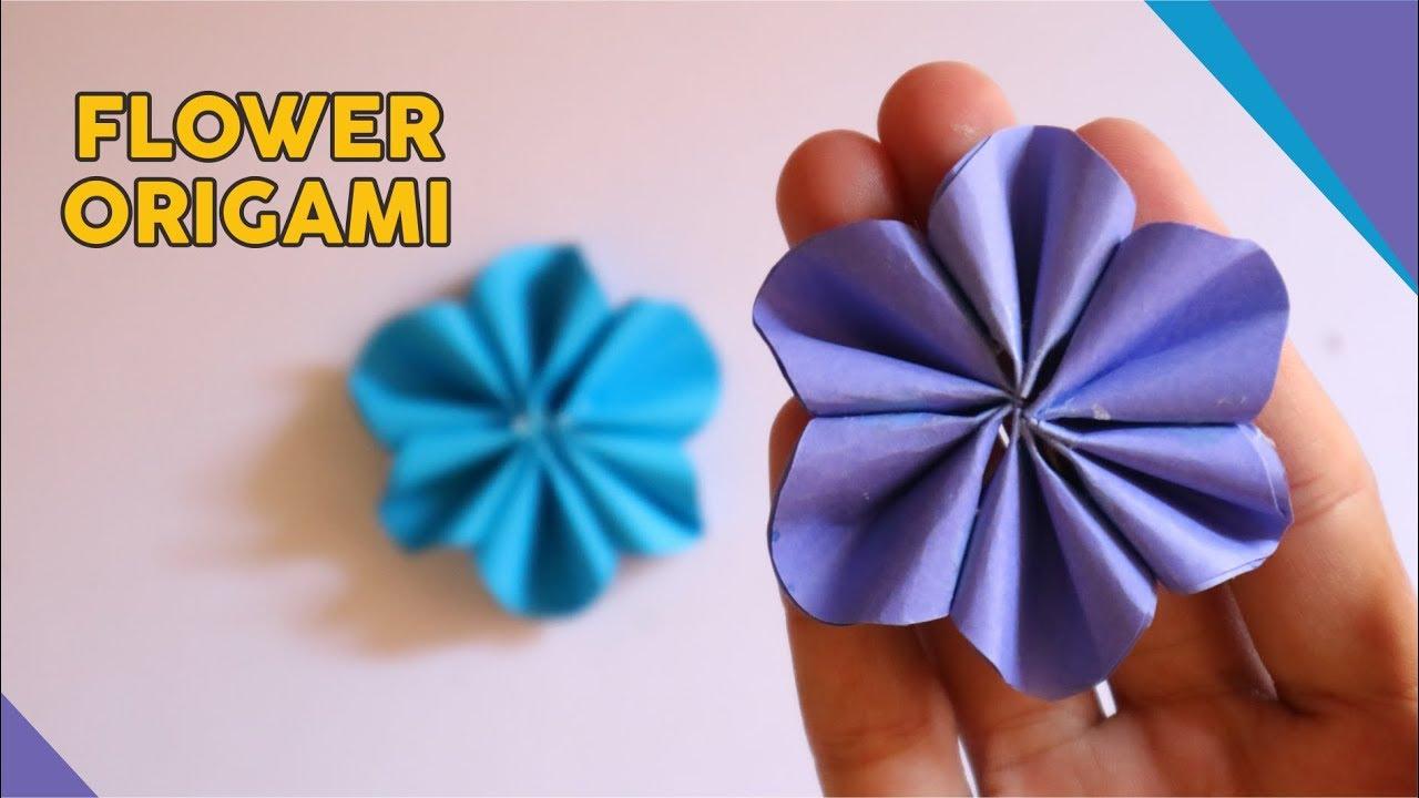 Cara Membuat Bunga Origami Mudah Banget How To Fold Flower Paper Easy Tutorial Wow Youtube