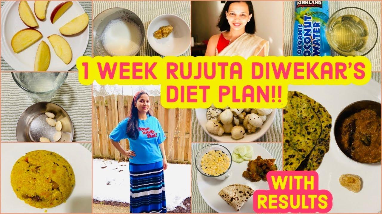 WEEK 1 : I Tried RUJUTA DIWEKAR'S Weight-Loss Diet plan  /RUJUTA DIWEKAR'S Healthy Indian diet plan
