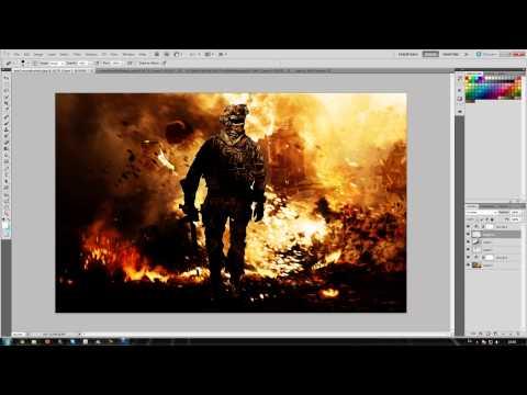 Photoshop CS5 MW2 speed art! (DOWNLOAD LINK BELOW)