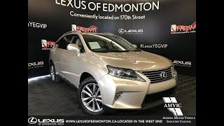 Lexus Certified Pre Owned Tan 2015 RX 350 Sportdesign Edition Review - Grand Prairie, Alberta