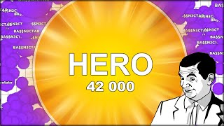 THE BIGGEST AGARIO HERO IS HERE! INSANE! EATING EVERYONE IN THE WAY (Agar.io 61)