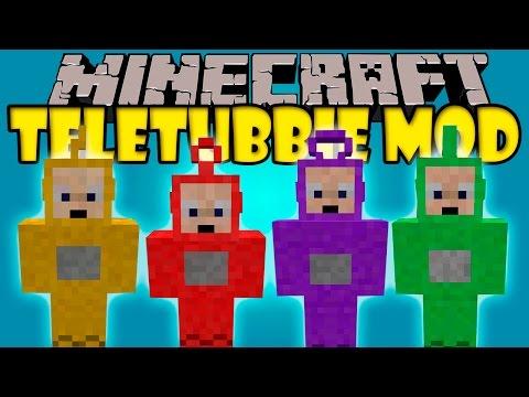 TELETUBBIE MOD - Tinky Winky, Dipsy, Laa-Laa Y Po! - Minecraft mod 1.7.10 Review ESPAÑOL