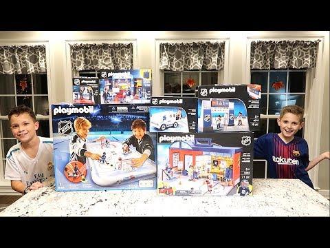 Kids HocKey Stanley Cup Final with PlayMobil NHL Insane Setup