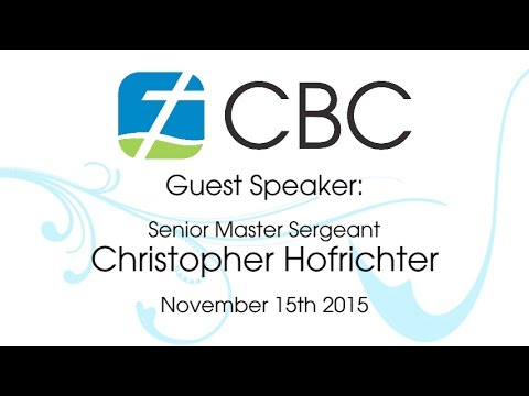 cbc sermon - November 15th 2015