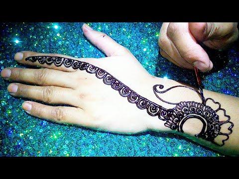 Repeat Beautiful Back Hand Arabic Mehndi Design 2019 Latest