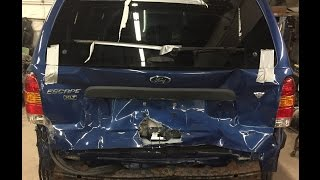 2007-ford-escape-liftgate-bumper-and-rear-body-replacement-time-lapse-repair