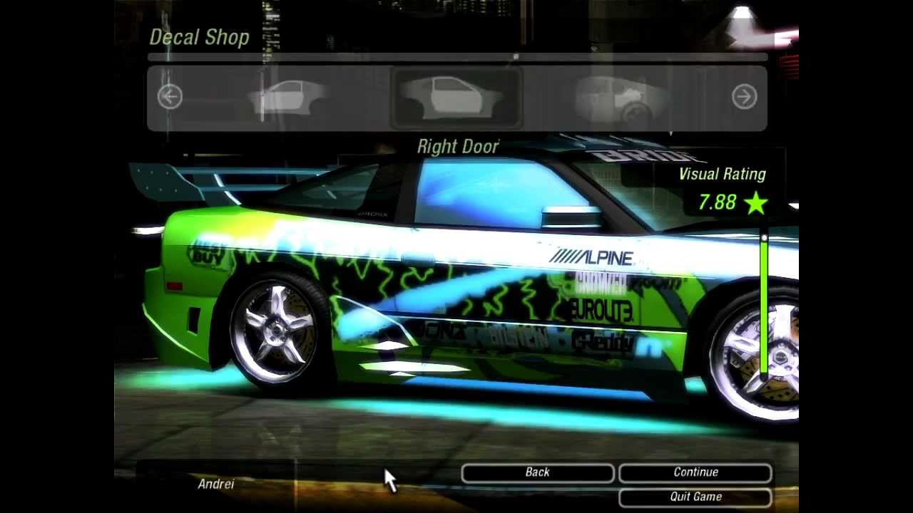 Need For Speed Underground 2 Tuning Nissan 240sx Hd