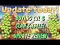 Clash of Clans Clan Wars Update Review Buying lvl 6 CC Clan Castle Gem Box Cleared
