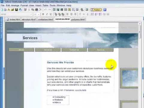 Free Website Cours - Adding HTML Code To Yahoo Site Builder - Help