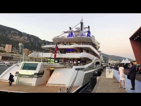Monaco yacht show 2019 by Night