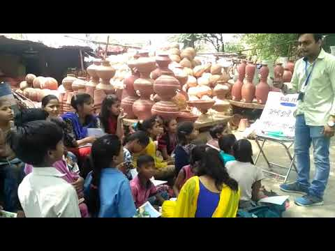 Class of Slum kids being conducted at Noida by Jai Khatri, Coordinating Volunteer