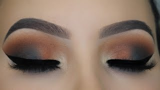 Navy Brown Smokey Eyes | DOMINIQUE COSMETICS LATTE PALETTE