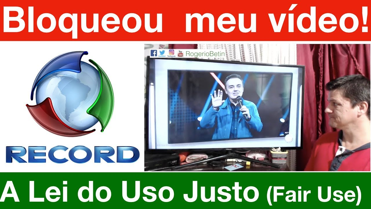 Tv Record roubou meu vídeo criticando Gugu e Power Couple! Entenda o Fair Use no YT.
