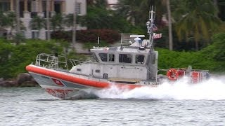 US Coast Guard Response Boat Hi-Speed Action In Miami