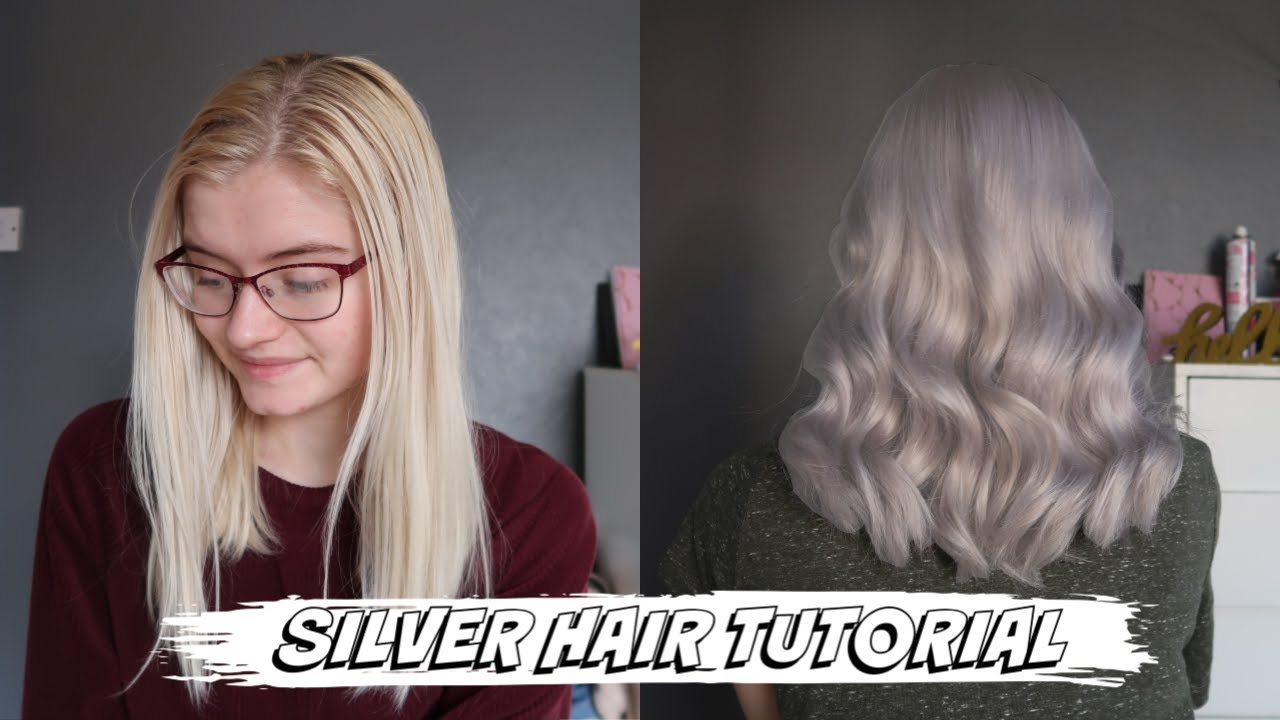 SILVER HAIR TUTORIAL   NO BLEACH   Wella Special Blonde 18/18 +T18 and T18  Toner