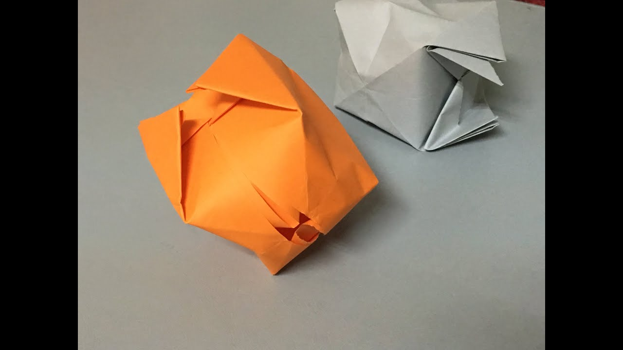 How To Make A Paper Water Bomb Origami Stuff Youtube