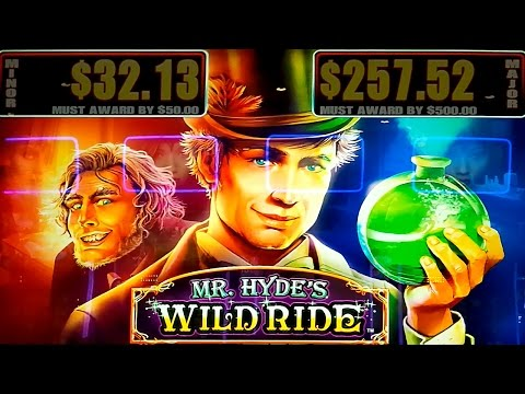 Mr. Hyde's Wild Ride Slot - $4 Max Bet - LIVE PLAY BONUS! - 동영상