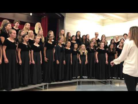Fisher Middle School Choir Sept 30, 2016
