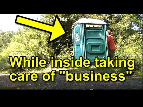 Funny Prank Disgusting Porta Potty SPLASH