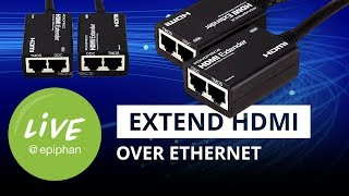 How to extend HDMI over ethernet