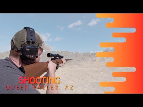 SHOOTING GUNS IN QUEEN VALLEY, ARIZONA
